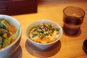 食べるラー油入り?絶品ミニ焼豚丼250円